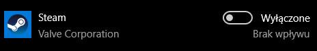 Wyłączona aplikacja autostartu