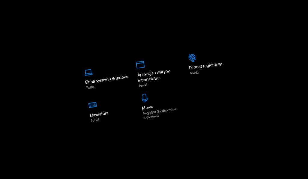 Jak zmienić język klawiatury w Windows 10