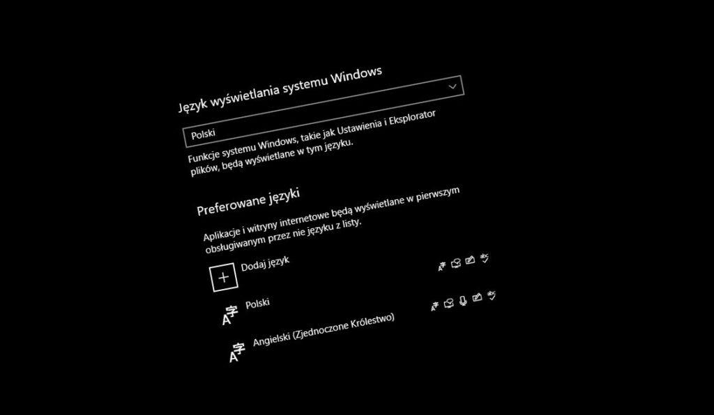 Zmiana języka w Windows 10