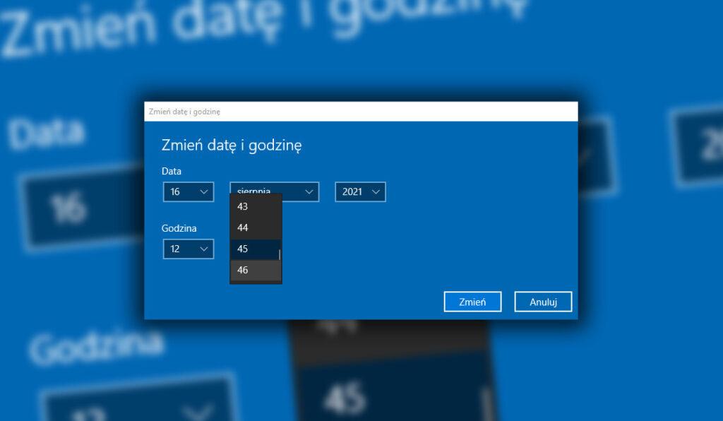 Jak zmienić godzinę w Windows 10?