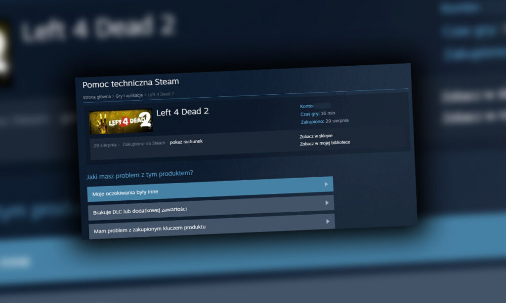 Jak zwrócić grę na Steam?