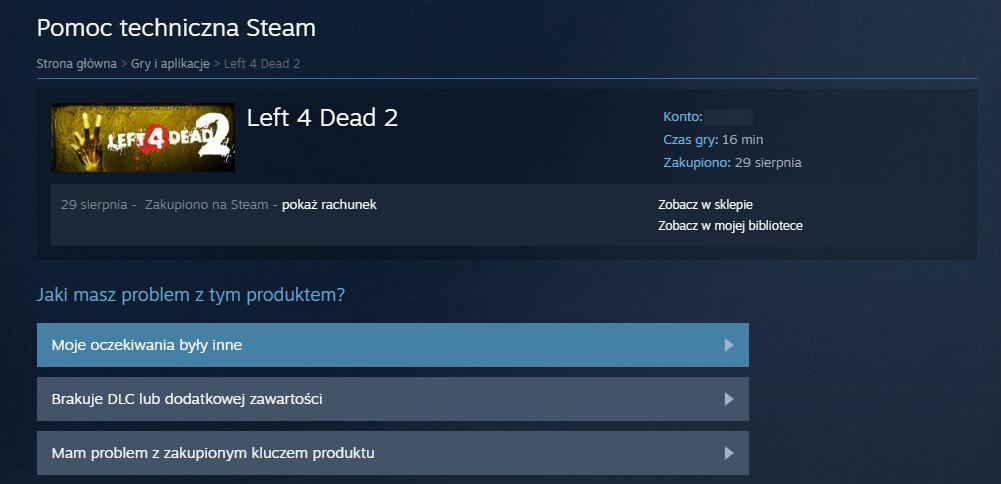 Moje oczekiwania były inne - Steam