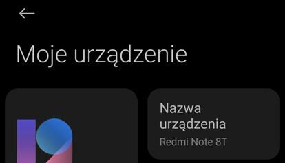 Nazwa urządzenia w Android