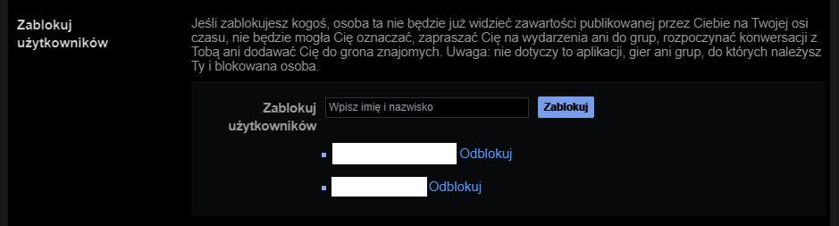 Odblokowywanie użytkowników