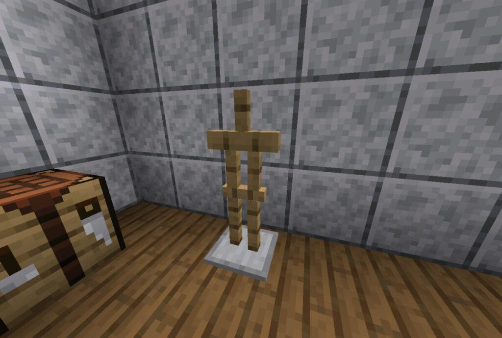 Jak zrobić stojak na zbroję w Minecraft
