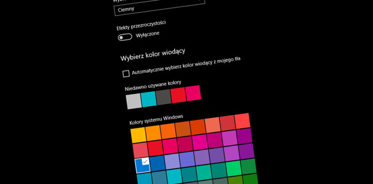 Tryb ciemny w Windows 10