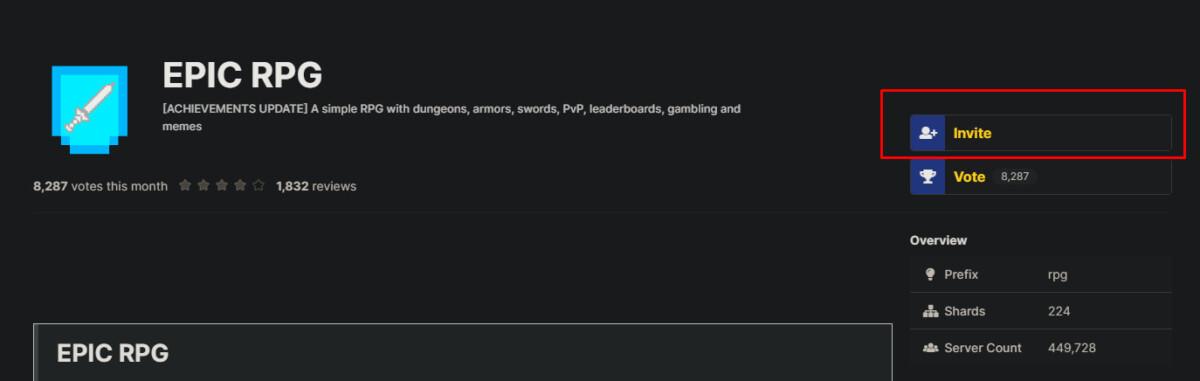 Zaproszenie bota na serwer Discord